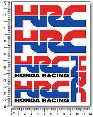 HRC Honda decal set 4.7x6.3 in. sheet 5 stickers laminate cbr 600 1000 rr racing