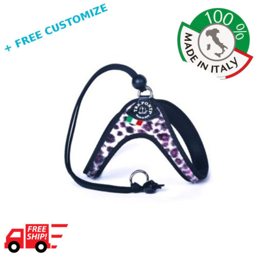 DOG HARNESSES TRE PONTI MOD FUR PINK LEOPARD FOR SMALL DOGS 100/% MADE IN ITALY