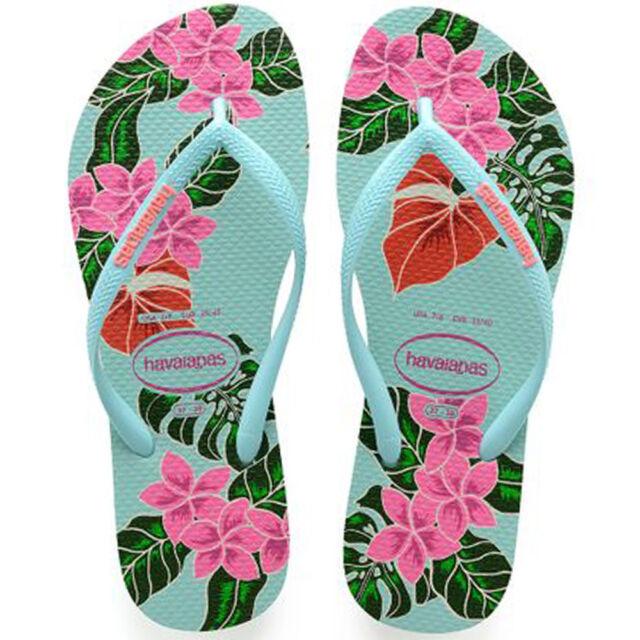 042072252 Havaianas Slim Floral Women s Flip Flops. Uk5 Ice Blue for sale ...