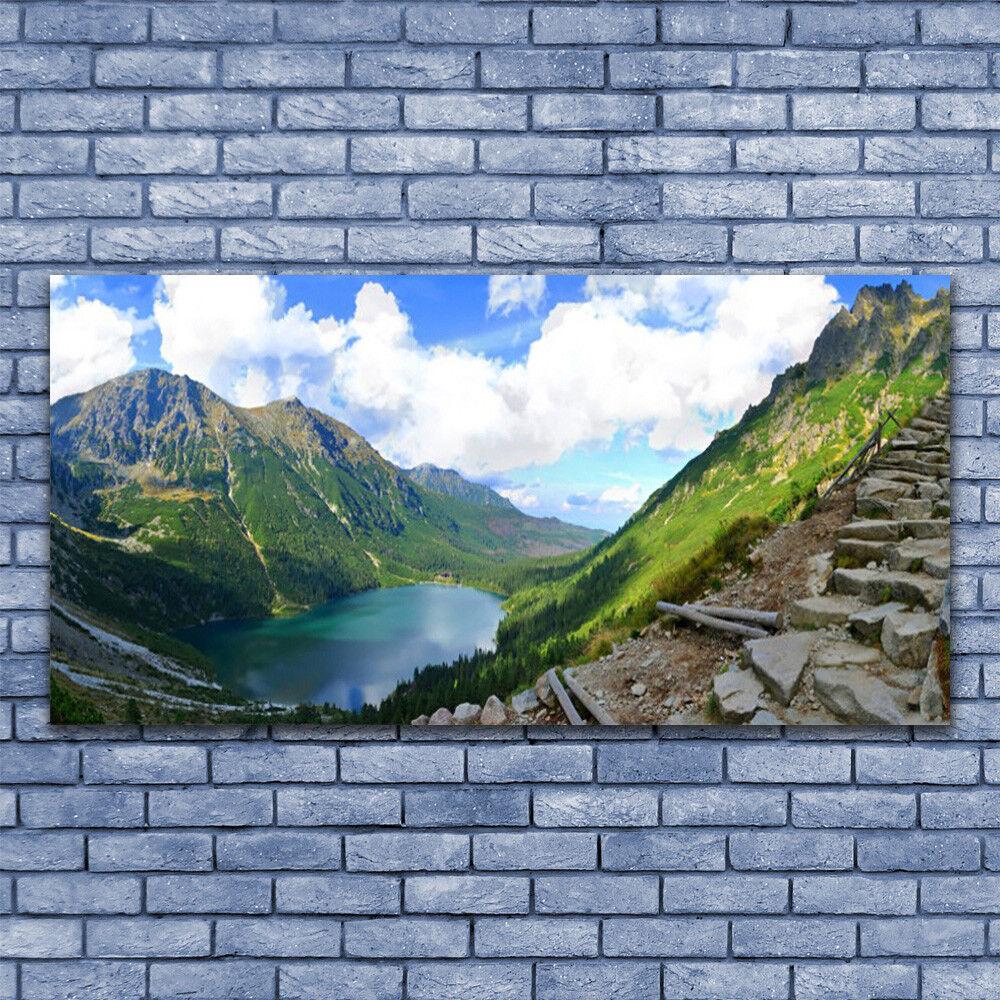 Impression Impression Impression sur verre Image Tableau 140x70 Paysage Montagnes 20bd25
