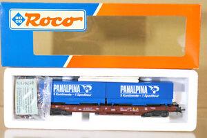 Roco-46361-Obb-OBB-Panalpina-Vagon-de-Transporte-Contenedor-581-5-Menta-en-Caja