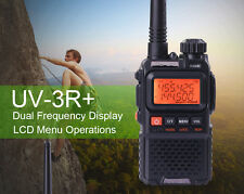 Baofeng UV3R+ Mini Walkie Talkie 2 Way Radio Ham Dual Band Transceiver Handheld