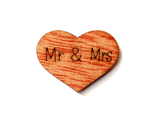 50 x 15mm or 25mm Wooden Wedding Hearts Shabby Chic Invitations Table Confetti