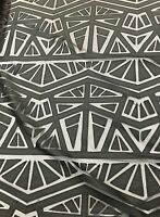 Dress Black Faux Leather Geometric Stitch Lace Fabric Sold By The Yard Gowns