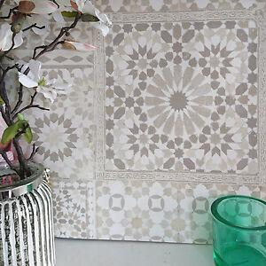 Das Bild Wird Geladen Marrakesh Wiedergewonnen Mosaik Gemustert Fliesen  Effekt Tapete In