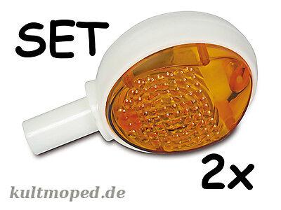 Moped SATZ 2x Blinker KR51 SR4-2 SR4-3 SR4-4 Schwalbe Star Sperber Habicht TOP