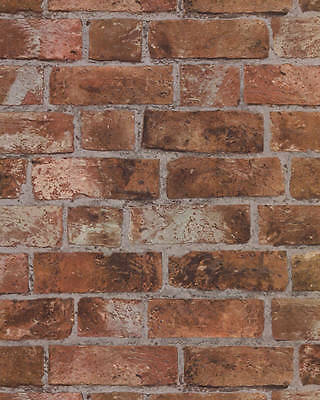 Brick Wallpaper Aged Orange Brick with texture HE1046