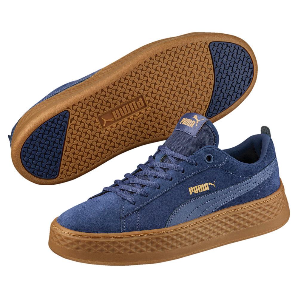 Puma Smash Plateau Platform SD 41 Damen Plateau Smash Sneaker navy-blau Suede NEU * 6616d5