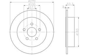 TEXTAR-Juego-de-2-discos-freno-270mm-CHRYSLER-SEBRING-PT-NEON-DODGE-92108600