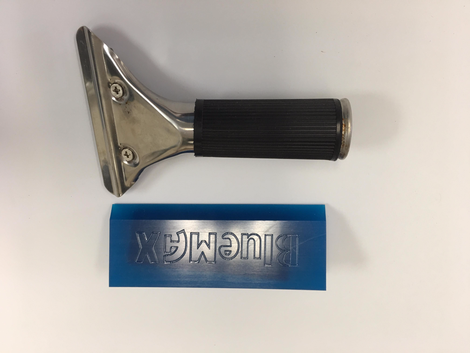Window Film Tools Angled Blue Max Pro Squeegee With Handle