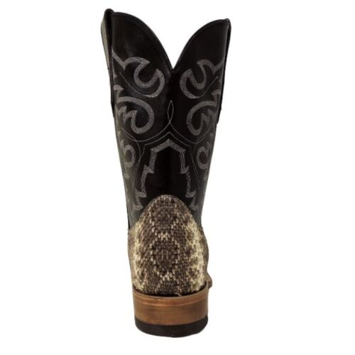 Cowtown Men/'s Exotic Rattlesnake Square Toe Western Boots Q715