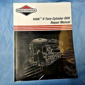 new briggs stratton intek v twin repair tech manual 273521 5 99 ebay rh ebay com Kubota Tractor Repair Manual Repair Manuals Yale Forklift