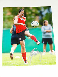 Image Is Loading ALEX MORGAN USA WOMENS AUTOGRAPHED SIGNED PHOTO WORLD