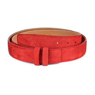 Red suede Belt strap Men's belts Womens Replacement 35 mm Genuine leather 1 38