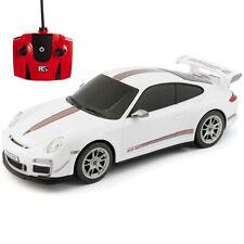 RC Auto Radiocomandato 1.24 BIANCO PORSCHE 911 GTR3 RS Bambini Giocattolo Nuovo Regalo
