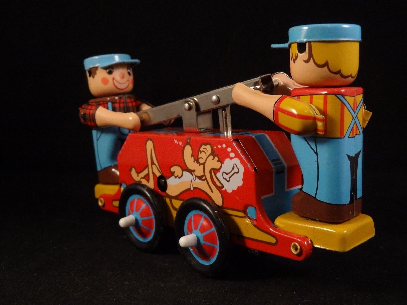 Ancien jouet wagon ferroviaire ferroviaire ferroviaire personnages chemin de fer pluto  mécanique 7b4939