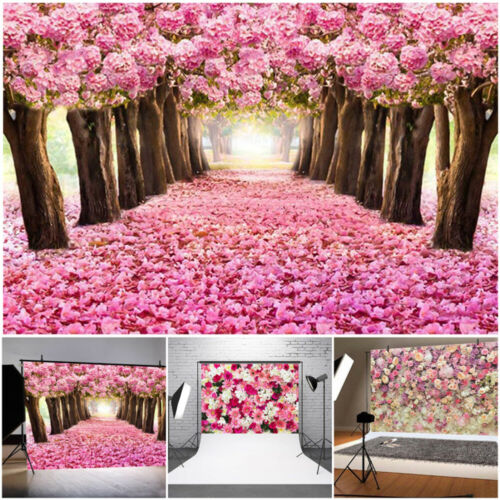 Multi Type Photography Backdrop Family Photo Shoot Props Pink Rose Background UK