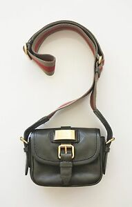 0a620405e76e3 MARC BY MARC JACOBS MINI CAMERA BAG Green Leather Canvas Strap ...