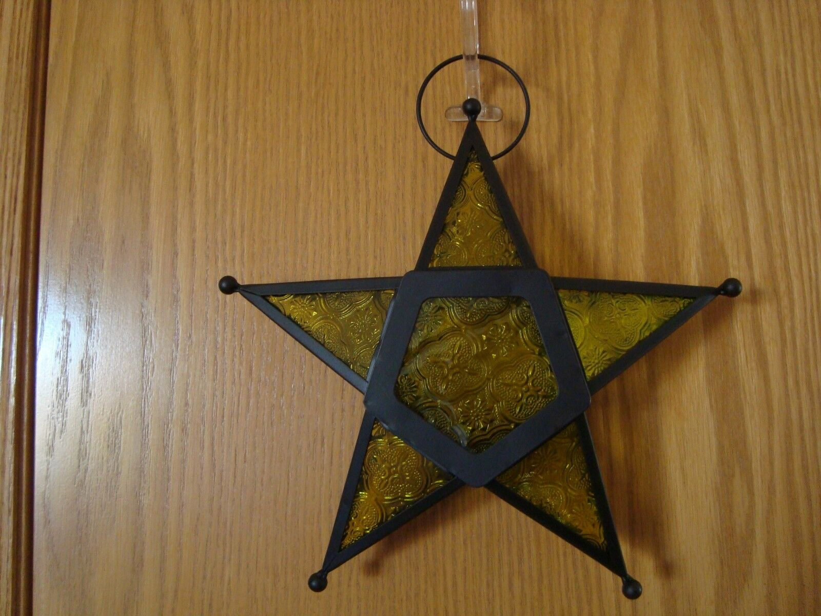 (2) Pier 1 Mgoldccan CHRISTMAS Hanging Star LANTERNS - Red & Green NEW SEALED