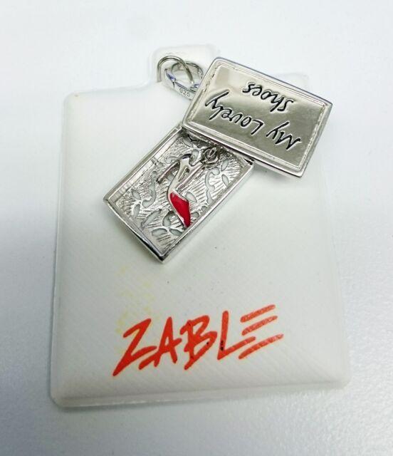 NEW Zable Beads My Lovely Shoe & Shoe Box Charm Fashion Theme LC143 Stlg Silver