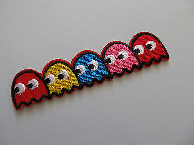 Pacman Worm Iron on Applique patch