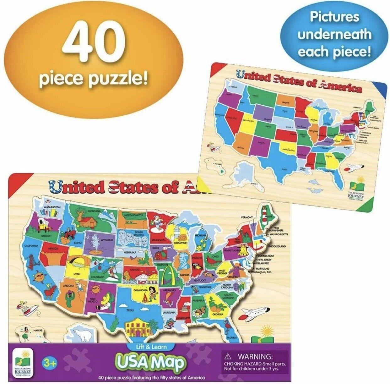 Encyclopedia Britannica Talking Us Map Puzzle Learning Aid TEK Nek Toys Encyclopedia Britannica Talking USA Map Puzzle
