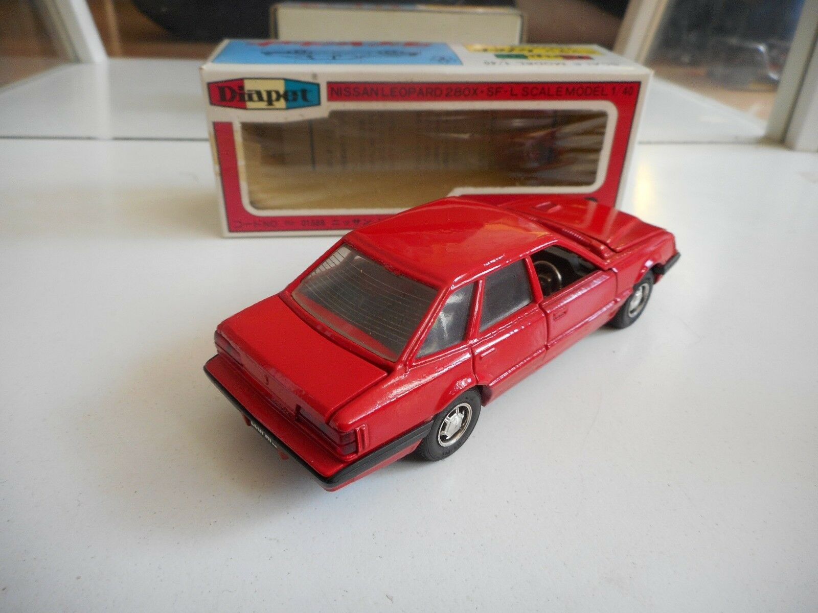 Yonezawa Toys Diapet Nissan Nissan Nissan Leopard in Red on 1 40 in Box 337140