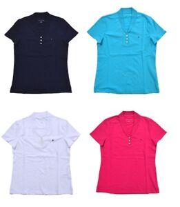 NEW-Tommy-Hilfiger-Women-039-s-Stretch-Mesh-Polo-Shirt-VARIETY