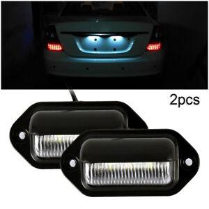 2X-LED-Kennzeichenleuchte-Nummernschildbeleuchtung-Anhaenger-Kennzeichen-Leuchte