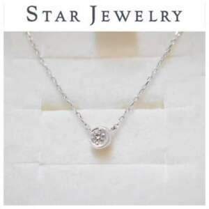 Details about Star jewelry moon setting diamond necklace K18 0 04 From  JAPAN Free shipping