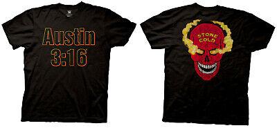 Stone Cold Steve Austin 3:16 Skull Mens Black T-Shirt V2