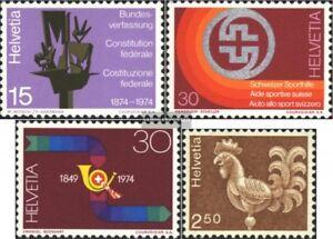 Schweiz-1039-1041-1057y-kompl-Ausg-gestempelt-1974-Sondermarken