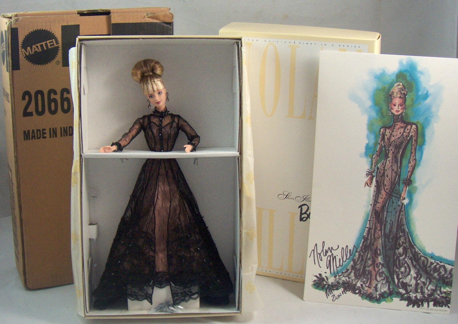 Nolan Miller pura ilusión Barbie Couture Collection 1998 & embarcador Nrfb Perfecto