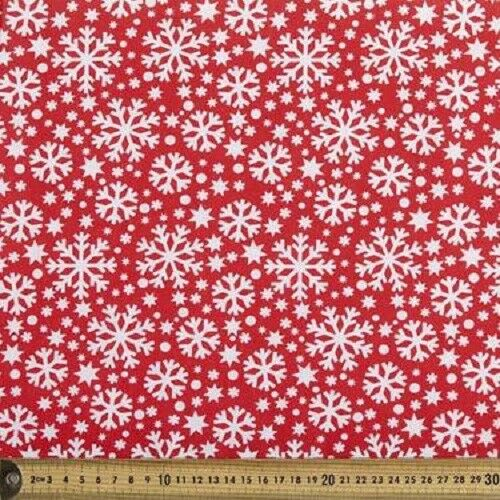 13 CHRISTMAS SNOWFLAKES NORDIC QUILTING FABRIC NO