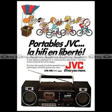 JVC PC 70 RADIO-CASSETTE BOOMBOX GHETTO BLASTER 1984 Pub / Publicité / Ad #A1449