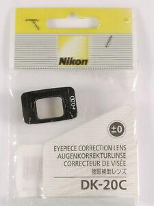 PRL) NIKON DK-20C +0.0D MIRINO EYEPIECE CORRECTION LENS CORRECTEUR DE VISEéE