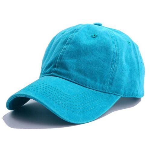 Men Women Casual Baseball Cap Washed Cotton Mesh Trucker Hat Snapback Adjustable