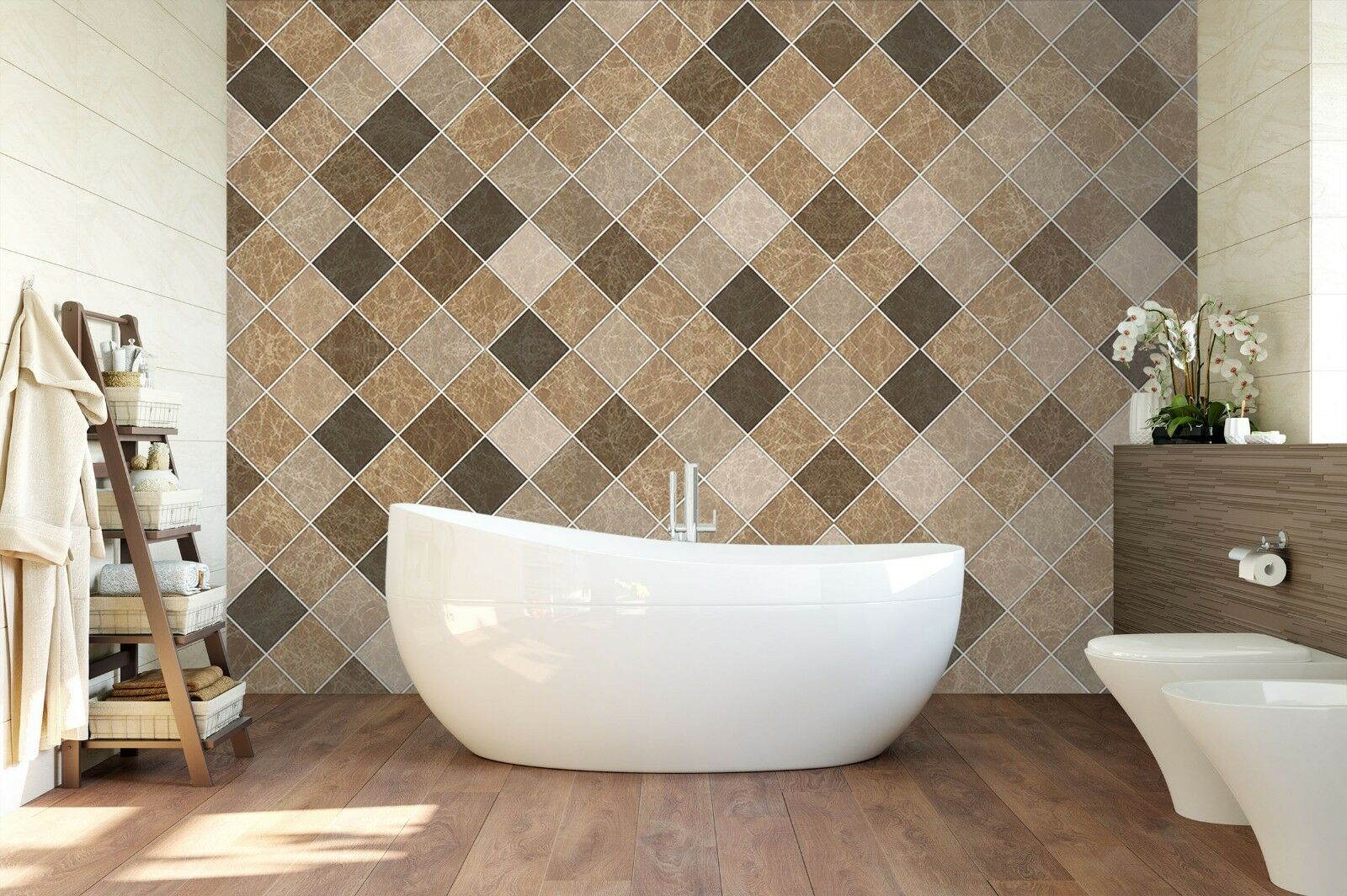 3D Square Mosaic 822 Texture Tiles Marble Wall Paper Decal Wallpaper Mural AJ