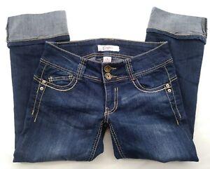 CANDIES-Women-039-s-Retro-Denim-Pedal-Pushers-Size-3-Jeans