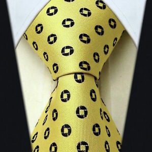 Scott-Allan-Mens-Geometric-Necktie-Yellow-Mens-Tie
