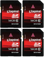 64 Gb Sd (4 X 16gb) Class 10 Kingston Sdhc Ultimate 120x Sealed