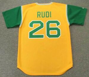 sale retailer abea6 6c4a9 Details about JOE RUDI Oakland Athletics 1969 Majestic Cooperstown  Throwback Baseball Jersey