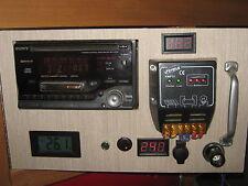 Blue 12v Volt Voltage Low Energy Meter Tester Gauge Panel Dash Van Boat Solar