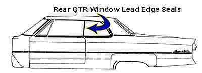 1967 1968 1969 1970 Cadillac Eldorado Rear Qtr Window Seals