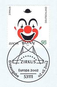 BRD-2002-Zirkus-Nr-2252-mit-dem-Bonner-Ersttags-Sonderstempel-1A-erhalten