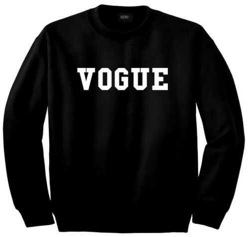 Kings Of NY Vogue Sweatshirt Blogger Fashion Style In Black Grey White Sleeves