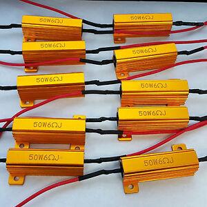 10x-50W-6-ohm-Load-Resistor-Fix-LED-Bulb-Fast-Hyper-Flash-Turn-Signal-Blink