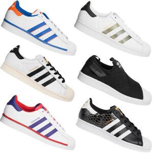 adidas Originals Superstar Sneaker Damen Herren Freizeit Schuhe schwarz weiß neu