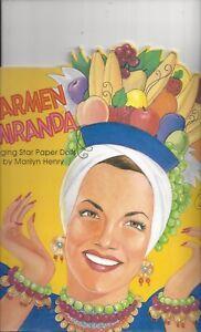 Carmen Miranda singing star paper dolls by Marilyn Henry