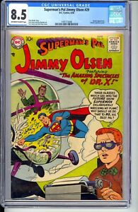 SUPERMAN'S PAL JIMMY OLSEN #29  CGC 8.5 VF+  TEN CENT 1958 D.C.! NICE OW/W PAGES